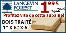 Langevin - Planche cloture