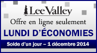 Lee Valley - Cyber Monday 2014