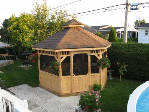 plan gazebo en bois gratuit. Black Bedroom Furniture Sets. Home Design Ideas