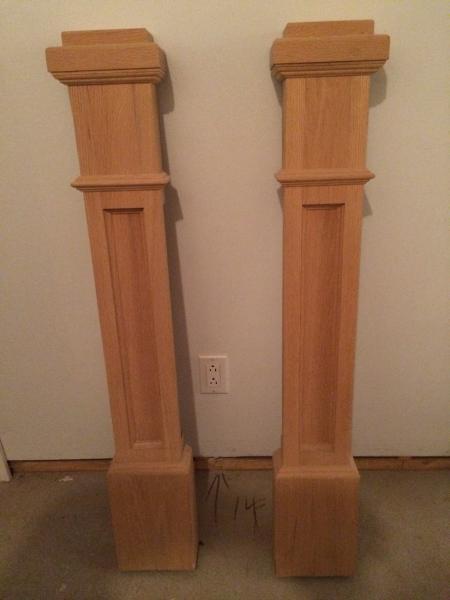 la r f rence en b nisterie demi poteau d 39 escalier en ch ne. Black Bedroom Furniture Sets. Home Design Ideas