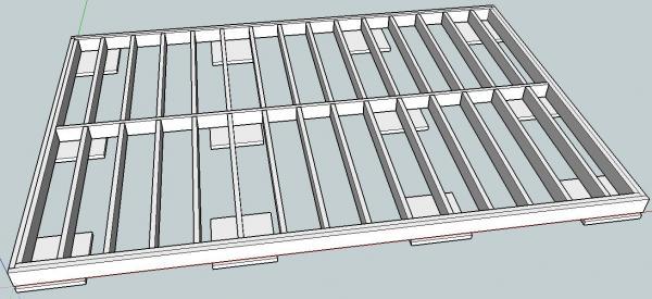 la r f rence en b nisterie r alisation d 39 un cabanon 1 1. Black Bedroom Furniture Sets. Home Design Ideas