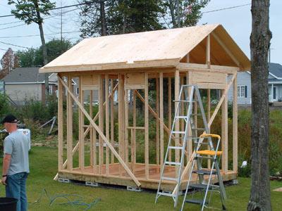 La r f rence en b nisterie fabrication d - Comment construire un cabanon de jardin ...
