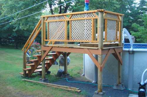 Nouvelle piscine a prenait un nouveau deck forum la - Construire un deck de piscine hors sol ...