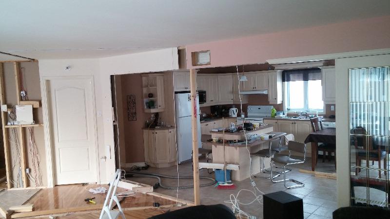 LaMortaise.com - Salon/cuisine à aire fermée en aire semi ...